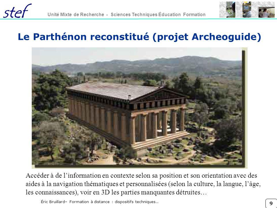 Le Parthénon reconstitué (projet Archeoguide)