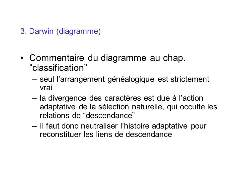 Commentaire du diagramme au chap. classification