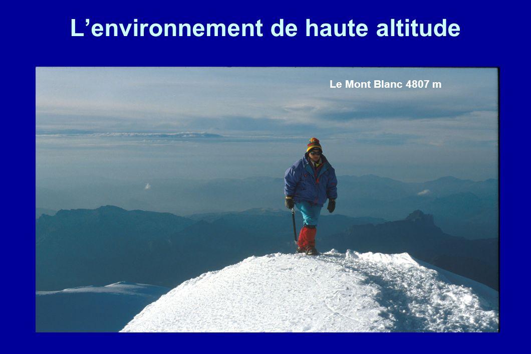 L'environnement de haute altitude