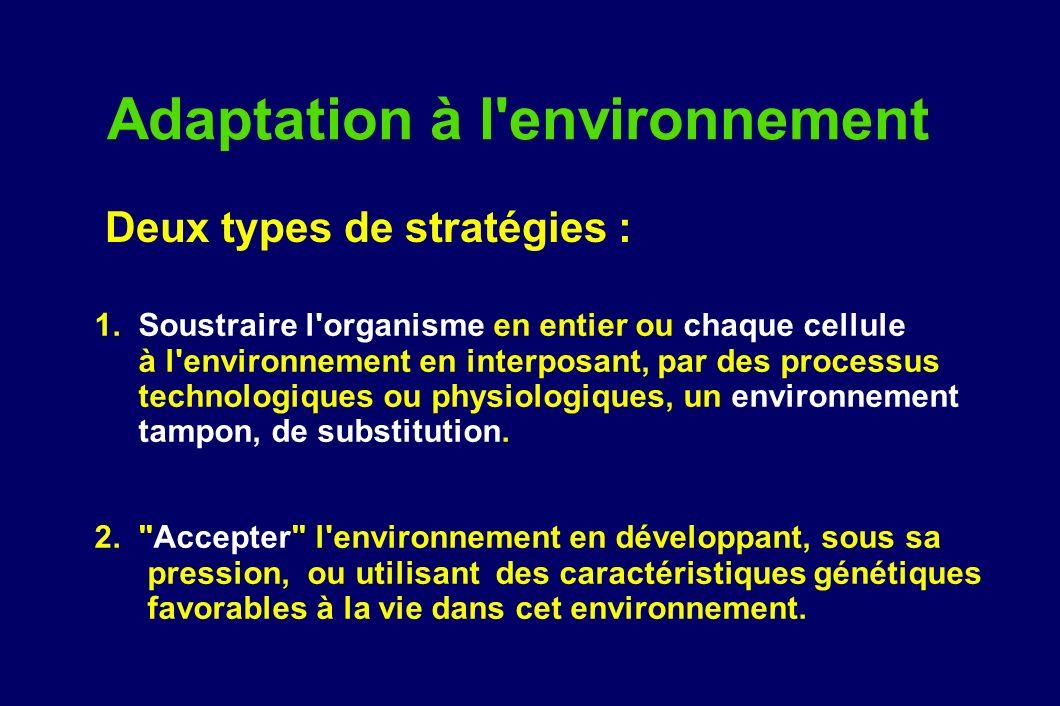 Adaptation à l environnement