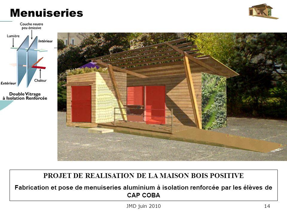 PROJET DE REALISATION DE LA MAISON BOIS POSITIVE