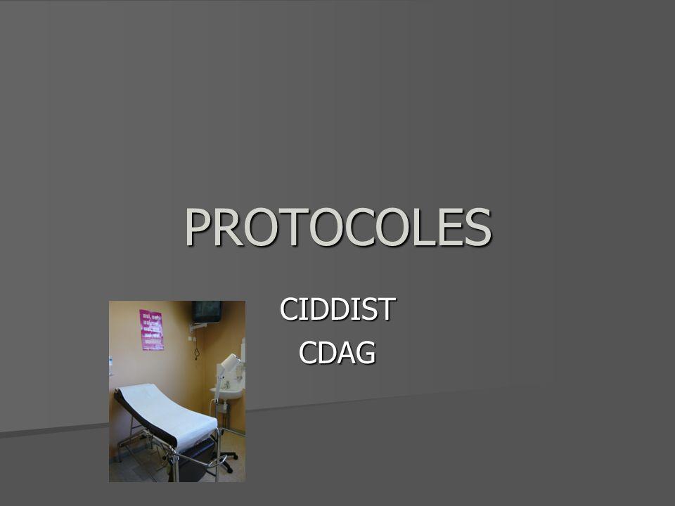 PROTOCOLES CIDDIST CDAG