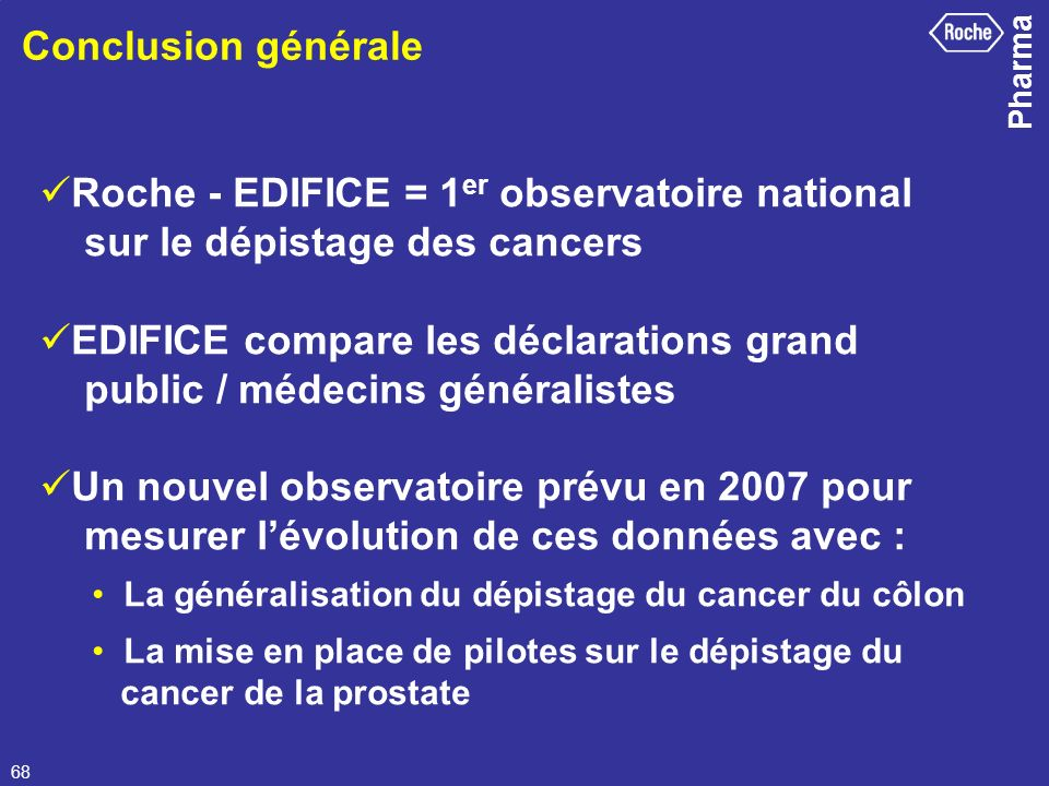 Roche - EDIFICE = 1er observatoire national