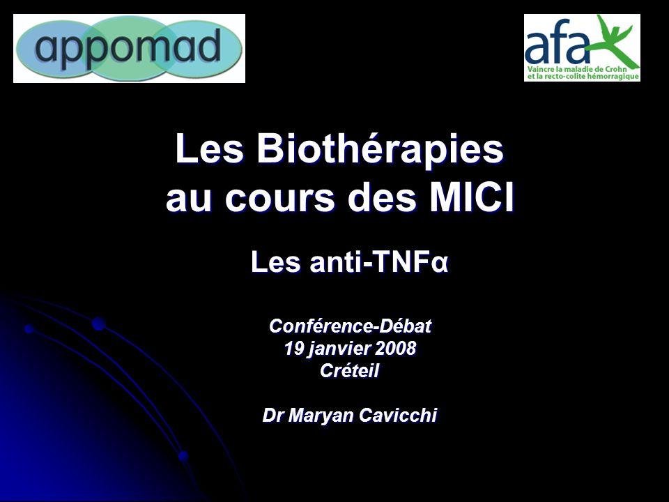 Les Biothérapies au cours des MICI
