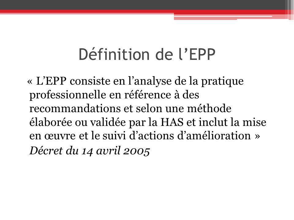 Définition de l'EPP