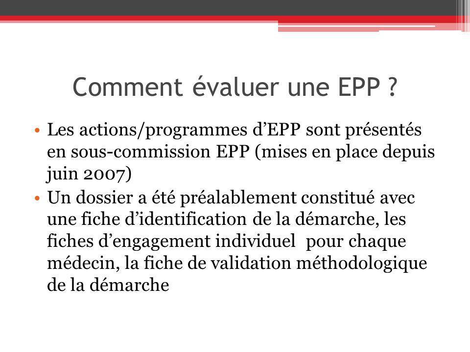 Comment évaluer une EPP
