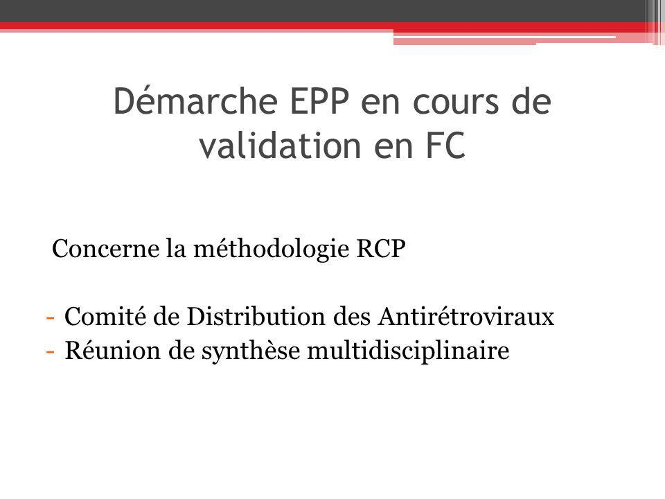 Démarche EPP en cours de validation en FC