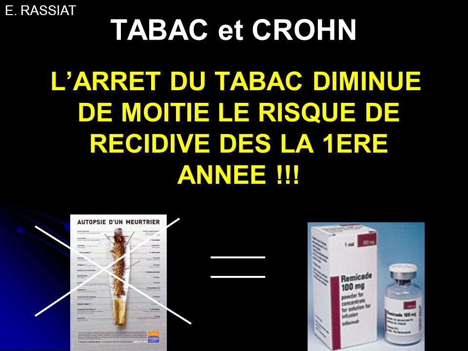 E. RASSIAT TABAC et CROHN.