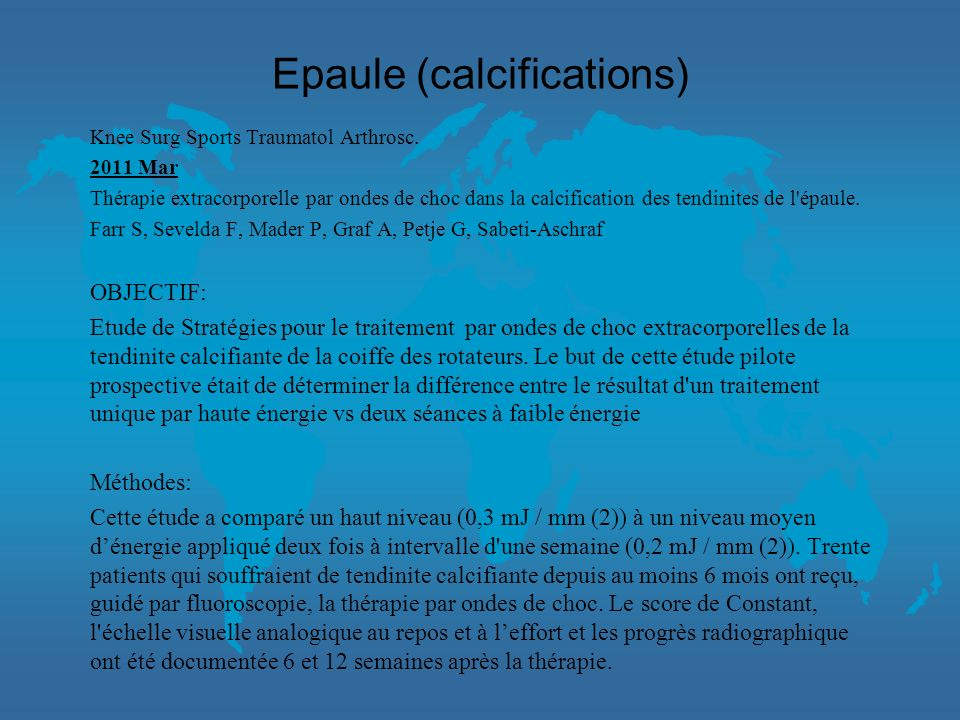 Epaule (calcifications)