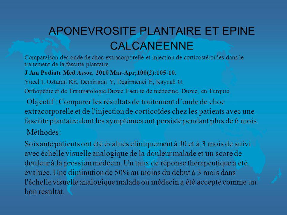 APONEVROSITE PLANTAIRE ET EPINE CALCANEENNE