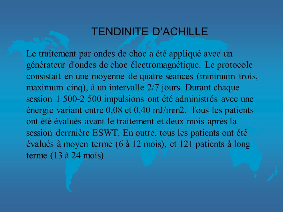 TENDINITE D'ACHILLE
