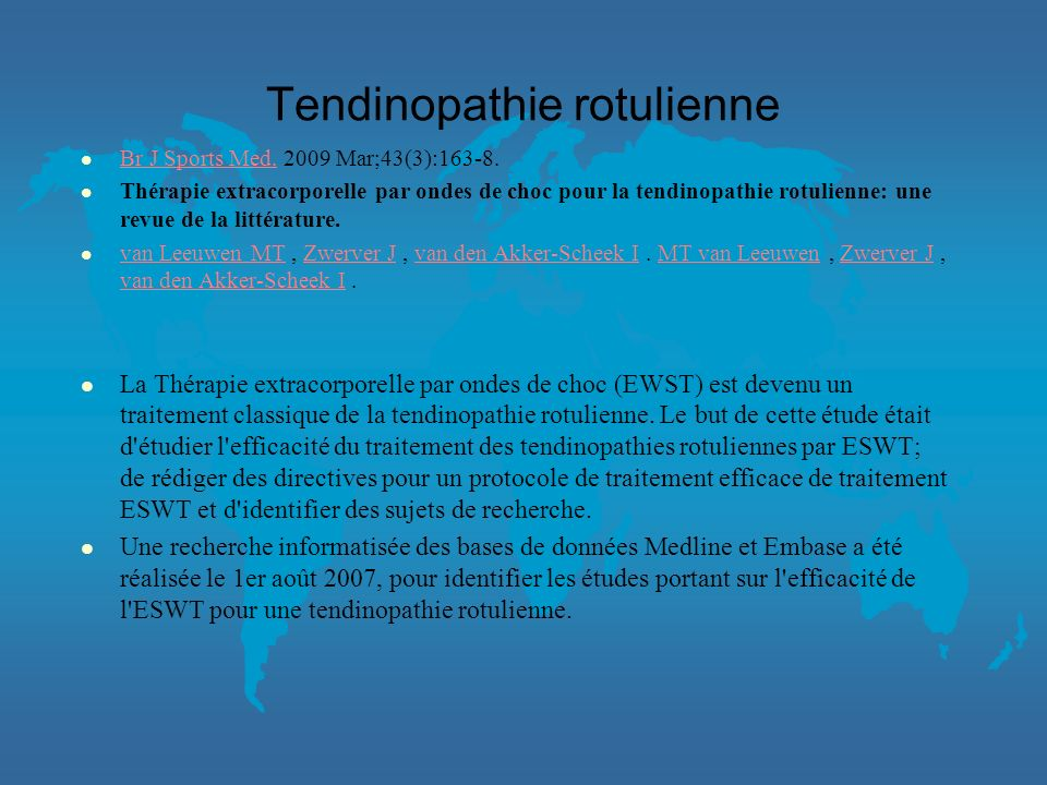 Tendinopathie rotulienne