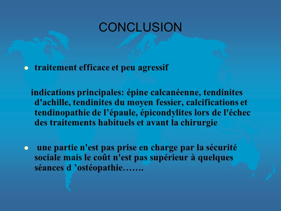 CONCLUSION traitement efficace et peu agressif
