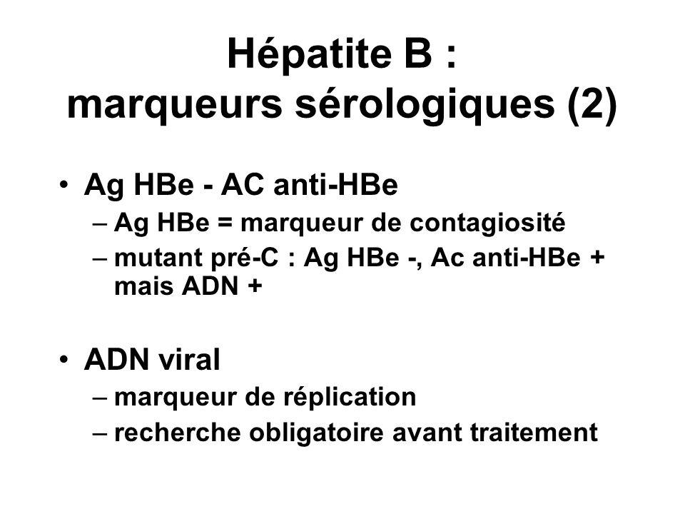 Hépatite B : marqueurs sérologiques (2)