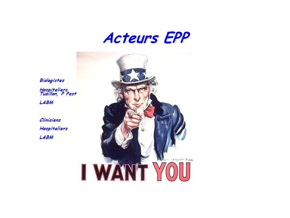 Acteurs EPP Biologistes