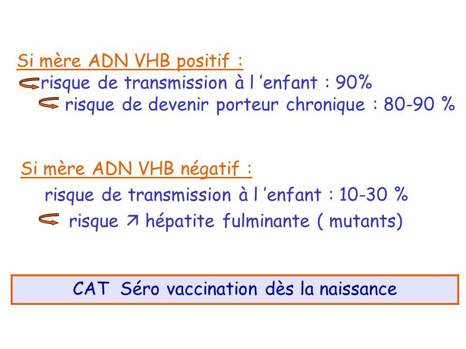 CAT Séro vaccination dès la naissance