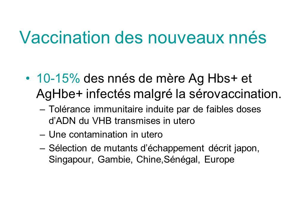 Vaccination des nouveaux nnés