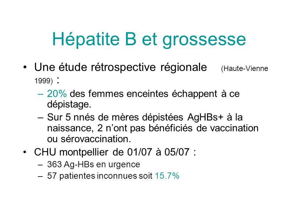 Hépatite B et grossesse