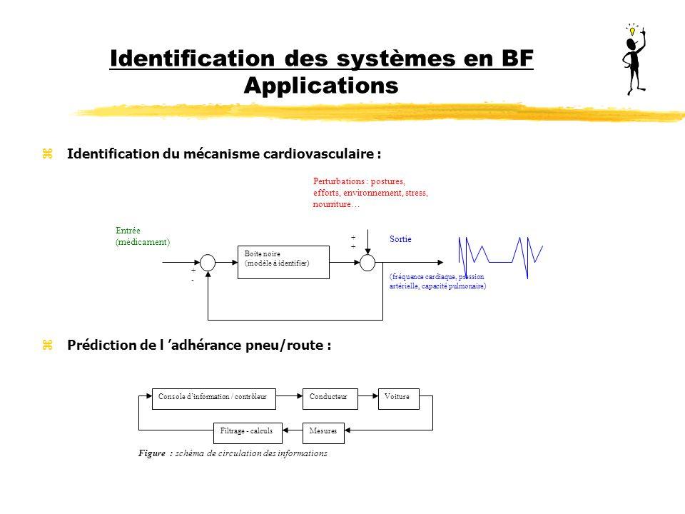 Identification des systèmes en BF Applications