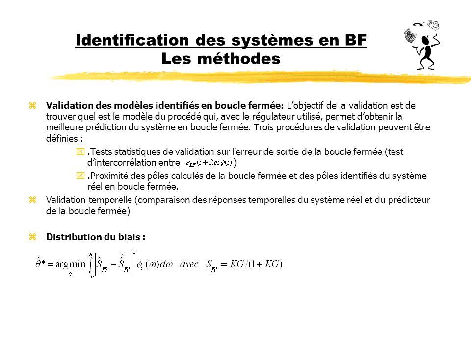 Identification des systèmes en BF Les méthodes