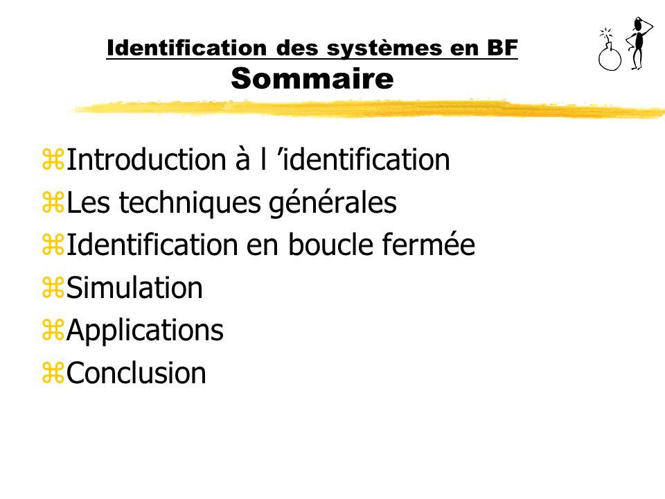 Identification des systèmes en BF Sommaire