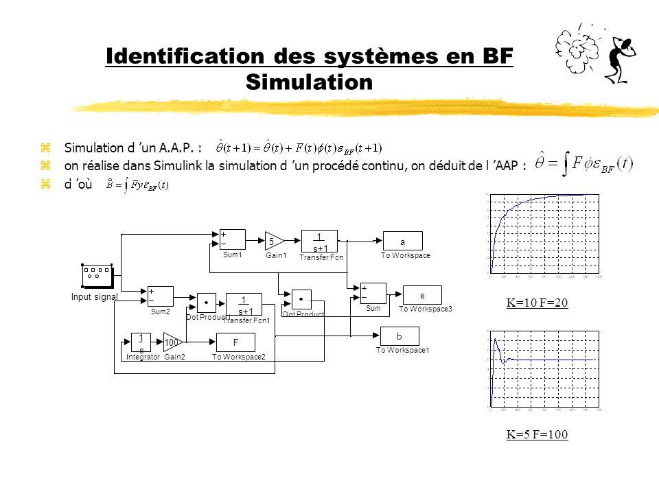 Identification des systèmes en BF Simulation