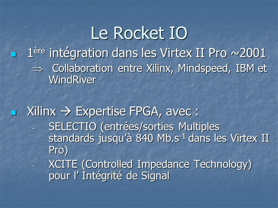 Le Rocket IO 1ère intégration dans les Virtex II Pro ~2001
