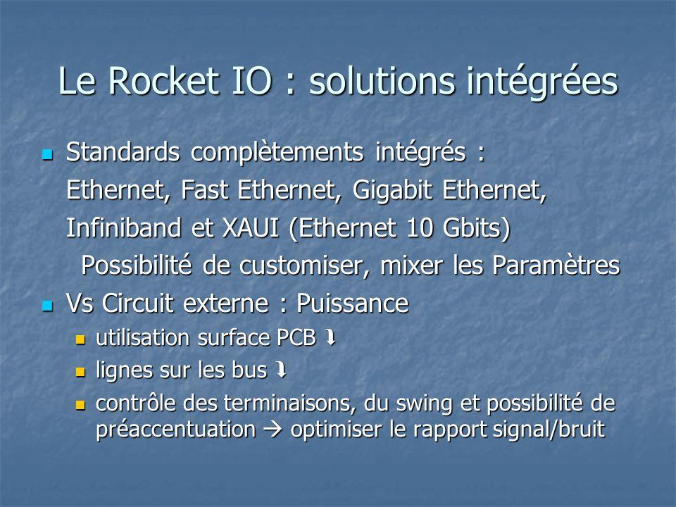 Le Rocket IO : solutions intégrées