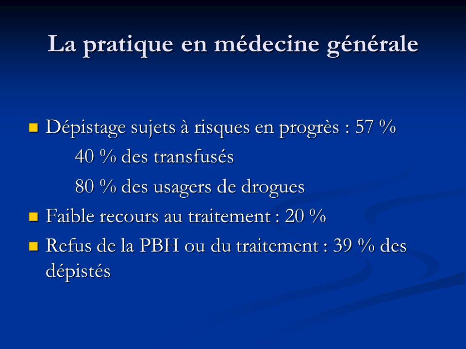 La pratique en médecine générale