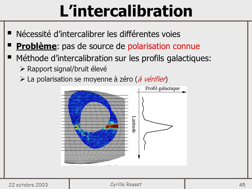 L'intercalibration Nécessité d'intercalibrer les différentes voies