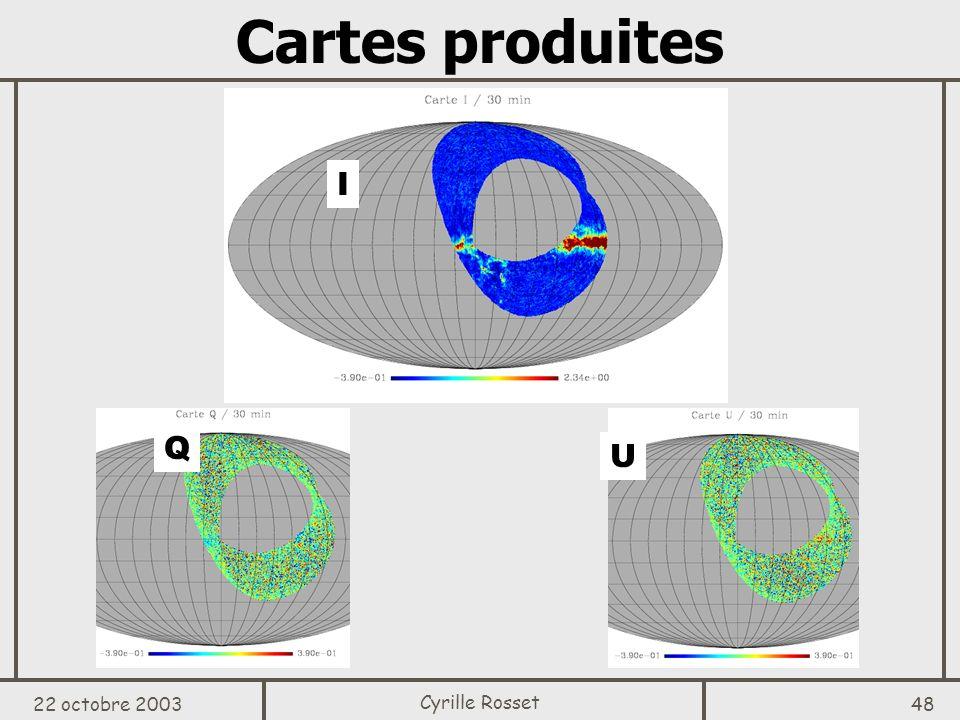 Cartes produites I Q U 22 octobre 2003 Cyrille Rosset