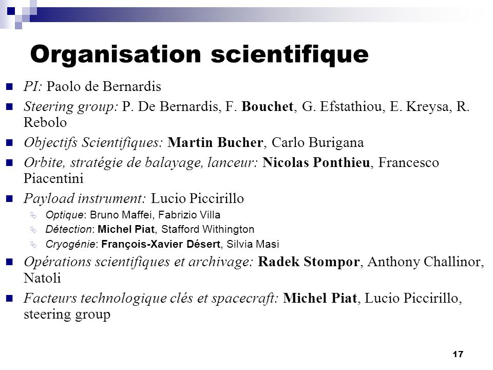 Organisation scientifique