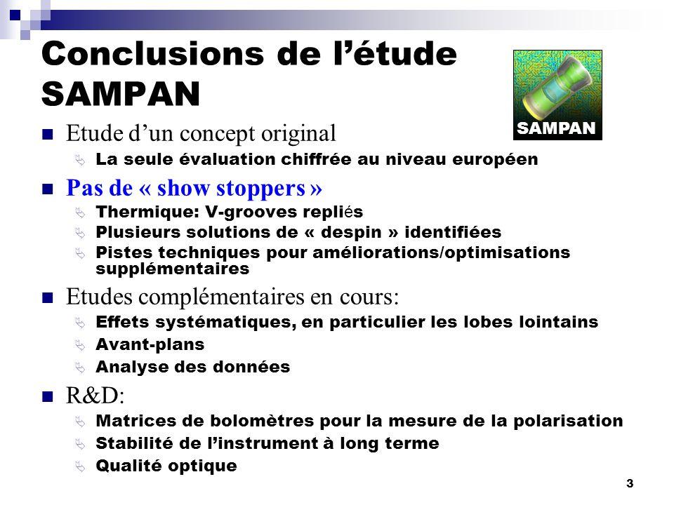 Conclusions de l'étude SAMPAN