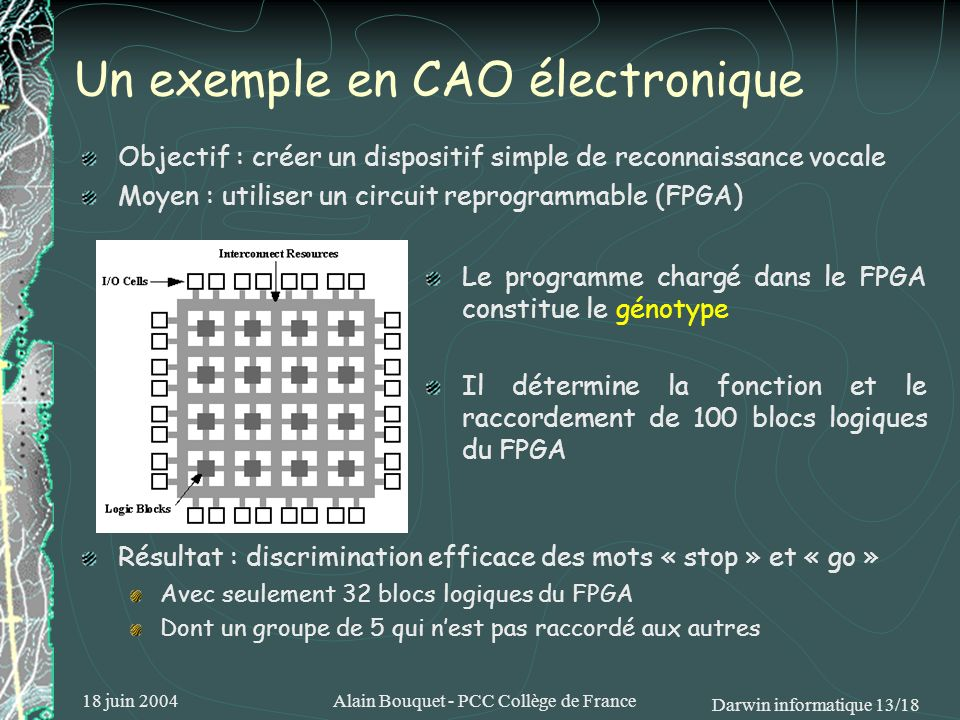Un exemple en CAO électronique