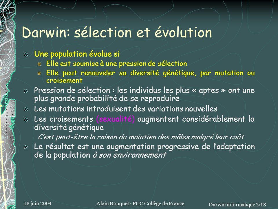 Darwin: sélection et évolution