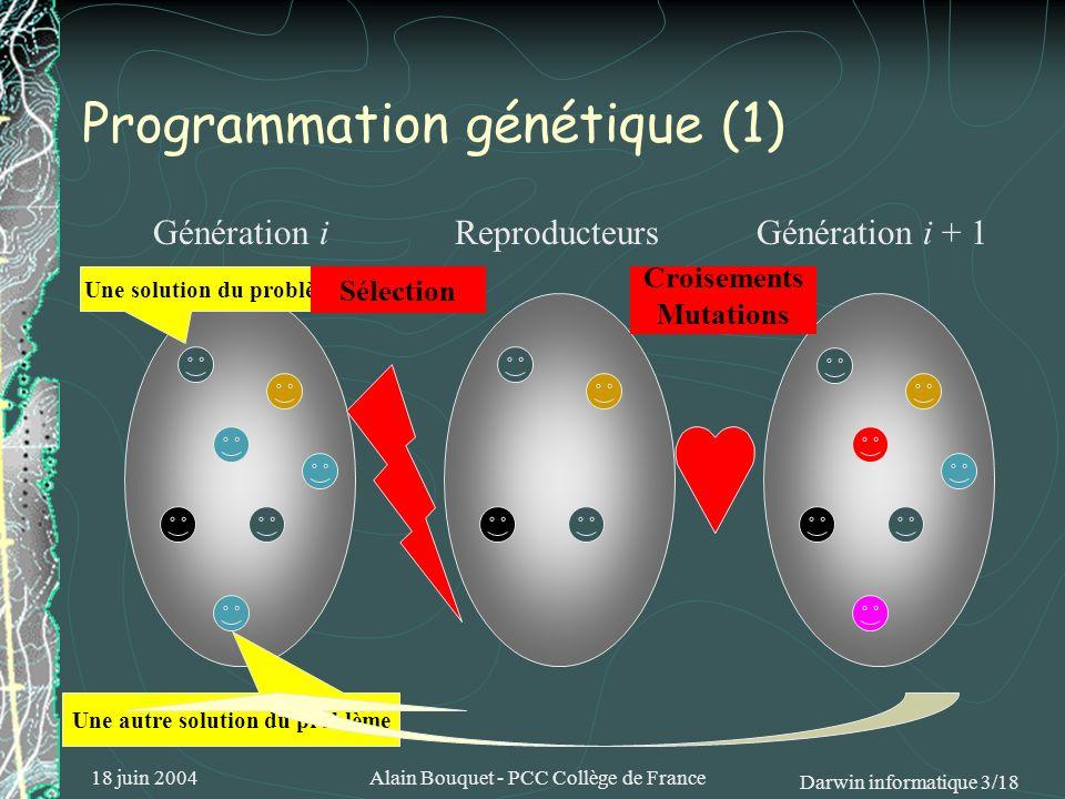 Programmation génétique (1)