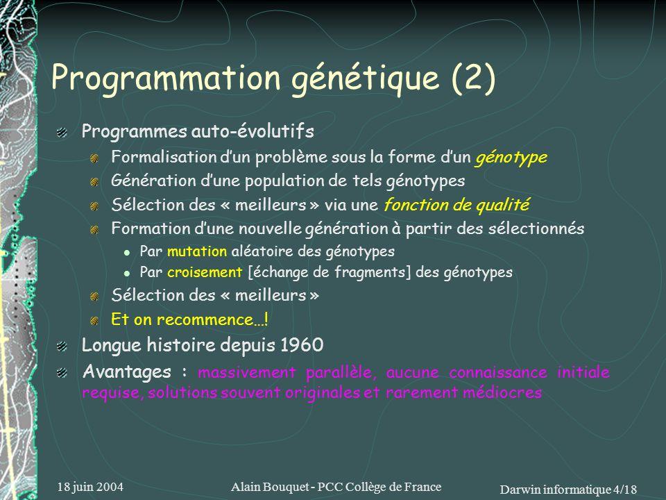 Programmation génétique (2)