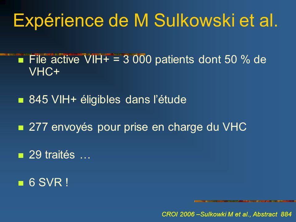 Expérience de M Sulkowski et al.