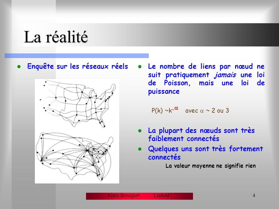 La réalité Enquête sur les réseaux réels