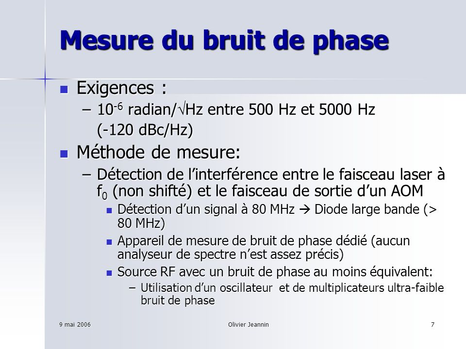 Mesure du bruit de phase