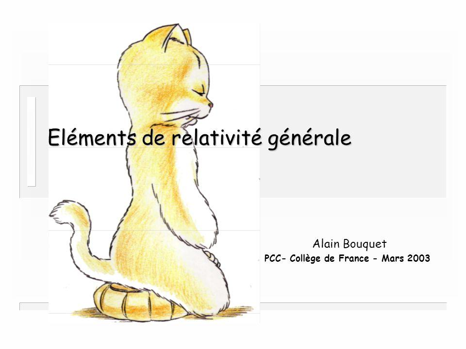 Eléments de relativité générale