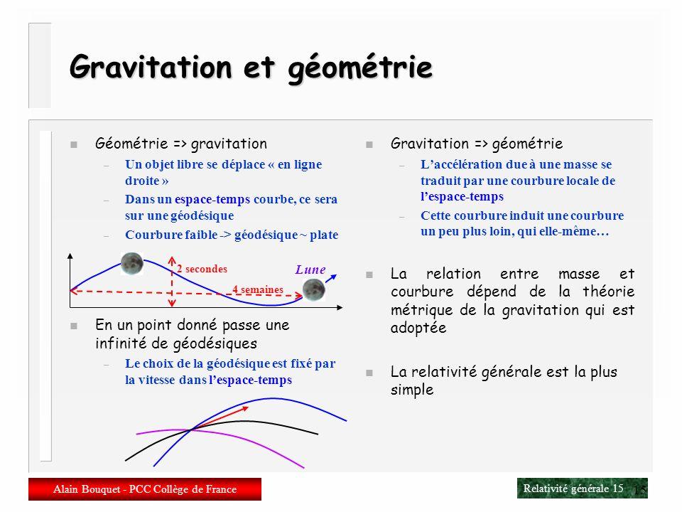 Gravitation et géométrie