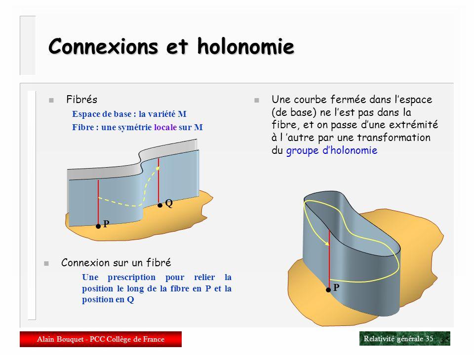Connexions et holonomie