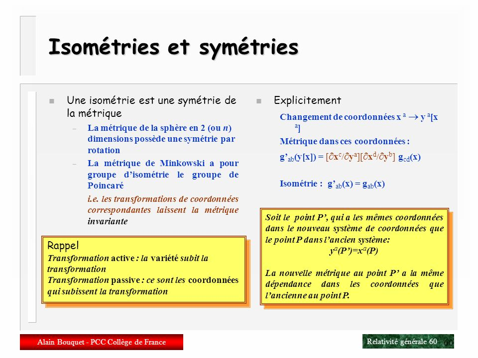 Isométries et symétries