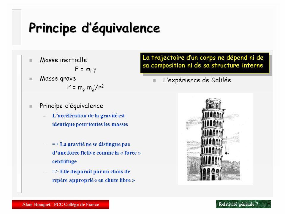 Principe d'équivalence