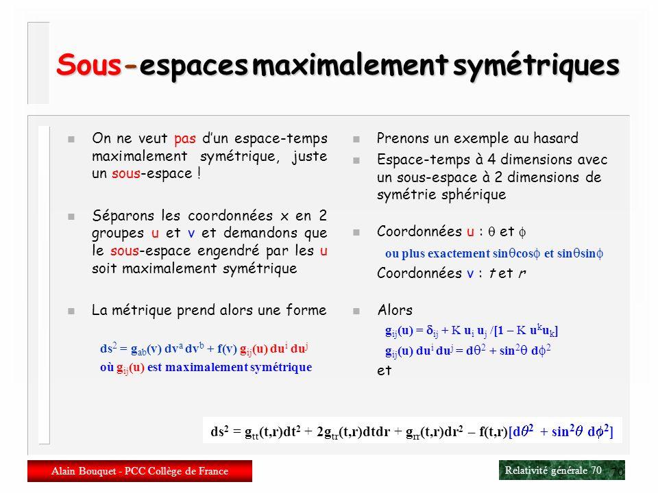 Sous-espaces maximalement symétriques