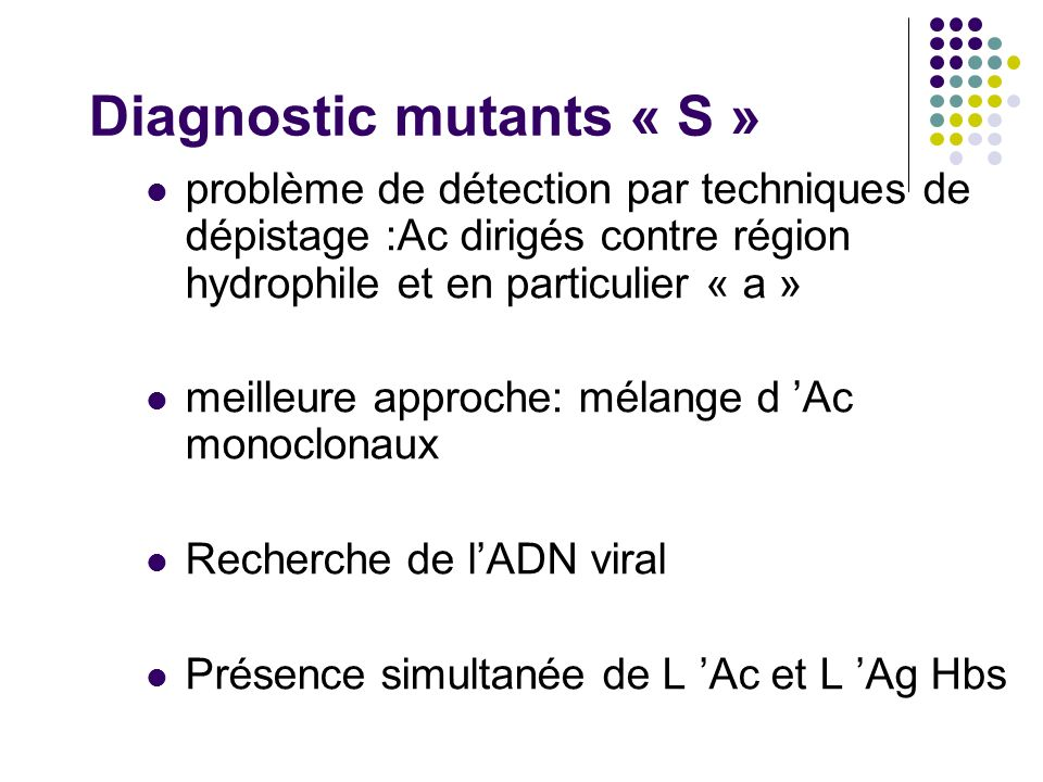 Diagnostic mutants « S »