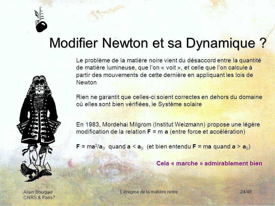 Modifier Newton et sa Dynamique