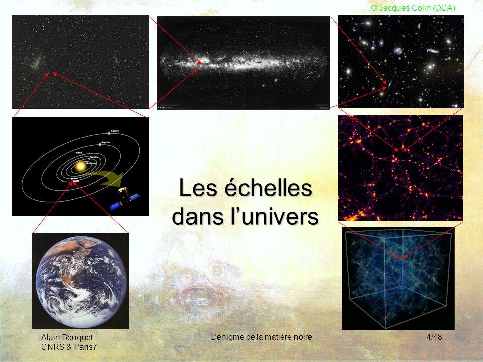 Les échelles dans l'univers