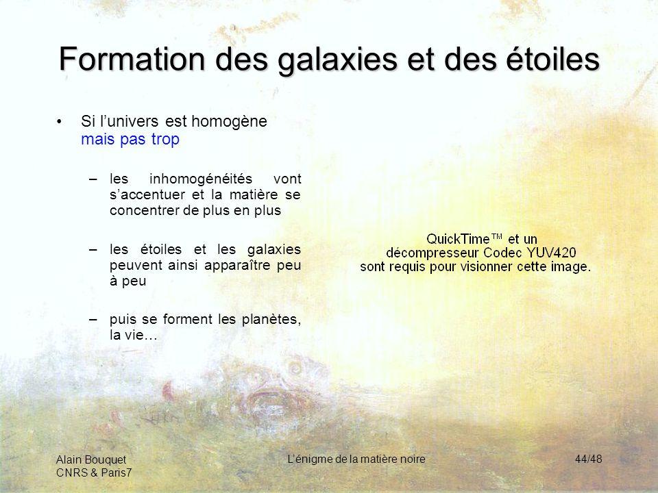 Formation des galaxies et des étoiles